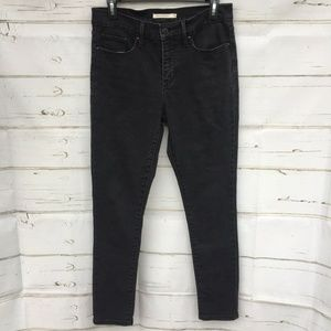 Levi womens 311 Shaping Skinny Black Dark Jeans 28